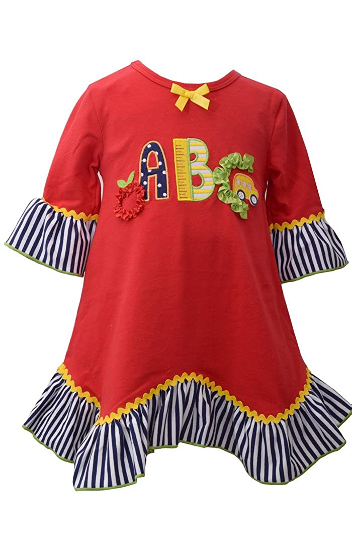 Bonnie Jean Baby Girls Appliqued Dress ABCs