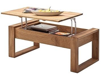 Couchtisch M Plattenlift Wohnzimmertisch Sofatisch Tisch Massivholz QuotVictor