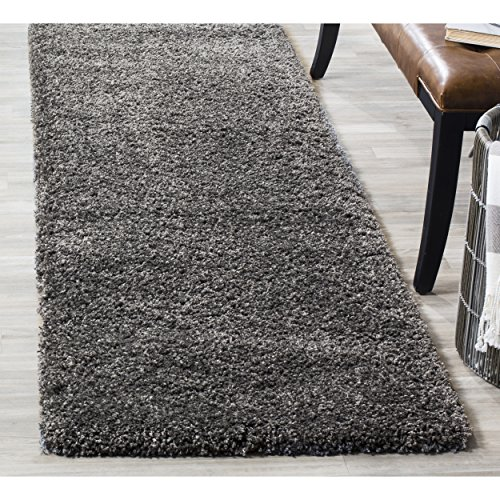 - Safavieh California Premium Shag Collection SG151-8484 Dark Grey Runner (2'3
