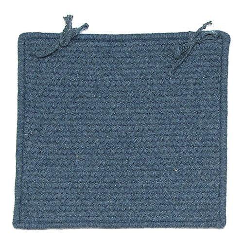 ウェストミンスターSquare Braided椅子パッド[ Set of 4 ] Color : Federal Blue   B002ISQ0EW