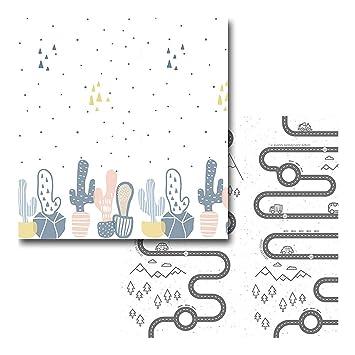 impermeable extragrande portátil de doble cara Takefuns Alfombrilla de juegos para bebé reversible plegable para niños pequeños y bebés(200 x 180 cm) antideslizante
