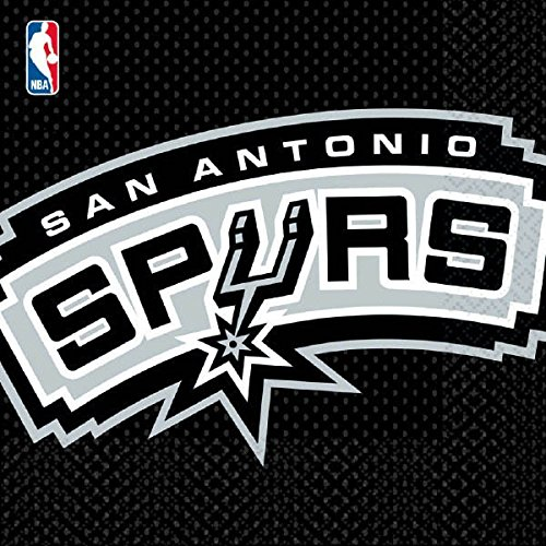 Sports and Tailgating NBA Party San Antonio Spurs Luncheon Napkins Tableware, Paper, 6