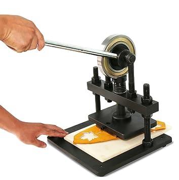 BMGIANT Máquina de cortar de cuero de mano papel fotográfico PVC/EVA hoja molde cortador de cuero máquina de troquelado: Amazon.es: Juguetes y juegos