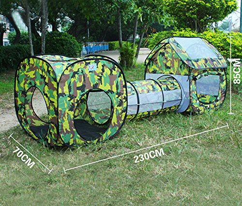 EocuSun Pop Up Kids Play Tent with Tunnel and Ball Pit Tent Indoor and Outdoor Children & EocuSun Pop Up Kids Play Tent with Tunnel and Ball Pit Tent Indoor ...