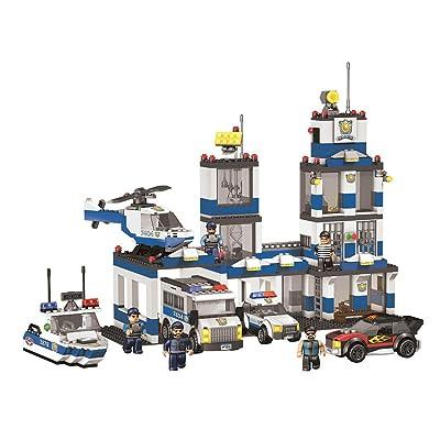 True Heroes Mega Bloks Set Police Station: Toys & Games