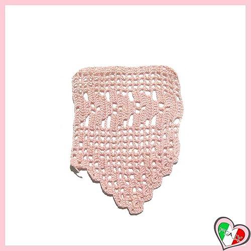 Bordo Rosa A Filet Per Abbellimenti Vari In Cotone Alluncinetto