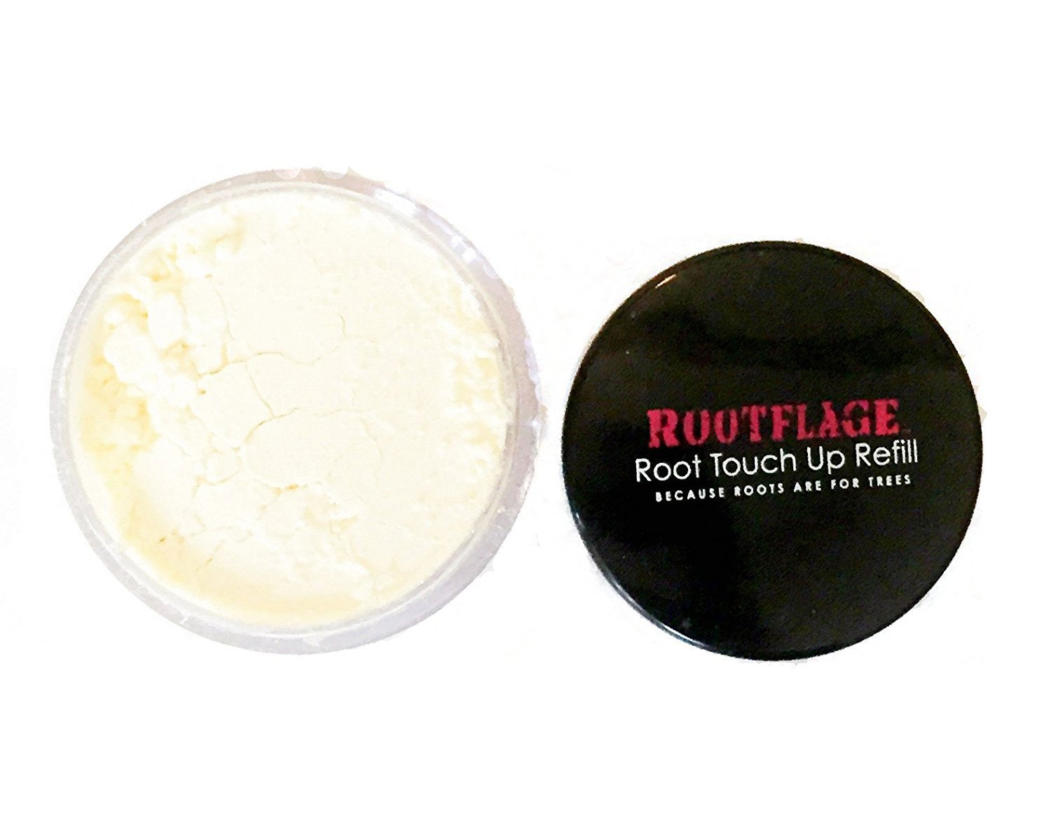 Rootflage Instant Blonde Root Touch Up Hair Powder - Temporary Hair Color, Root Concealer, Thinning Hair Powder and Concealer Refill Jar with Detail Brush Included (02 Light Blonde) by Rootflage