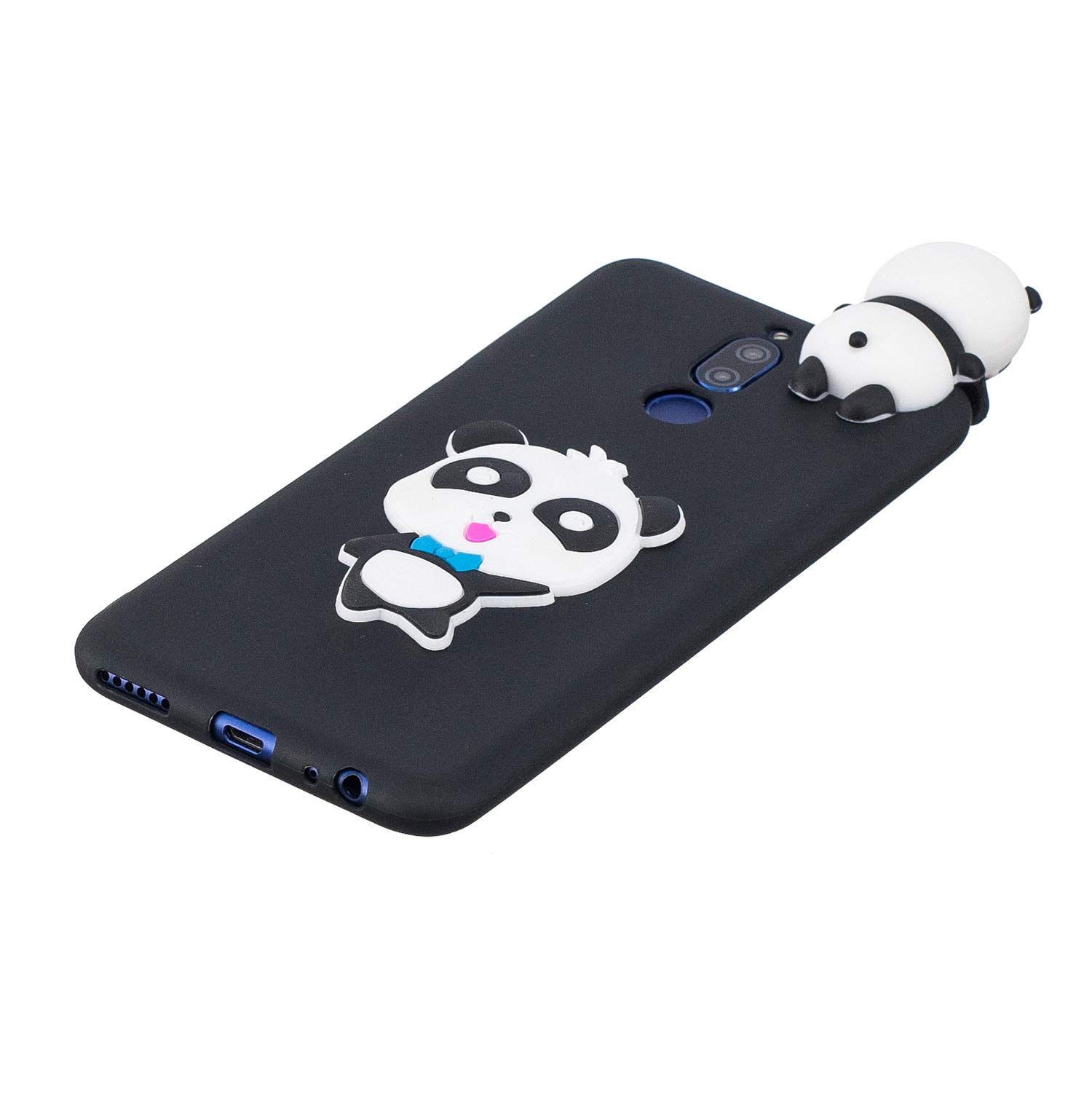 for Huawei Mate 10 Lite Silicone Case with Screen Protector,QFFUN 3D Cartoon [Panda] Pattern Design Soft Flexible Slim Fit Gel Rubber Cover,Shockproof Anti-Scratch Protective Case Bumper by QFFUN (Image #3)