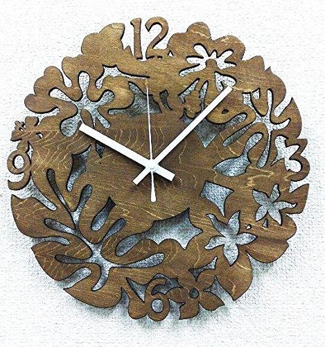 K-ART.JAPAN 置き時計掛け時計 ブラウン サイズ:W29×H29×3cm B017GRUBRQ