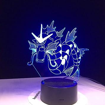 3d Go 7 Veilleuses Led Gyarados Pokemon Lampe Couleur Facetowind MVUpSz