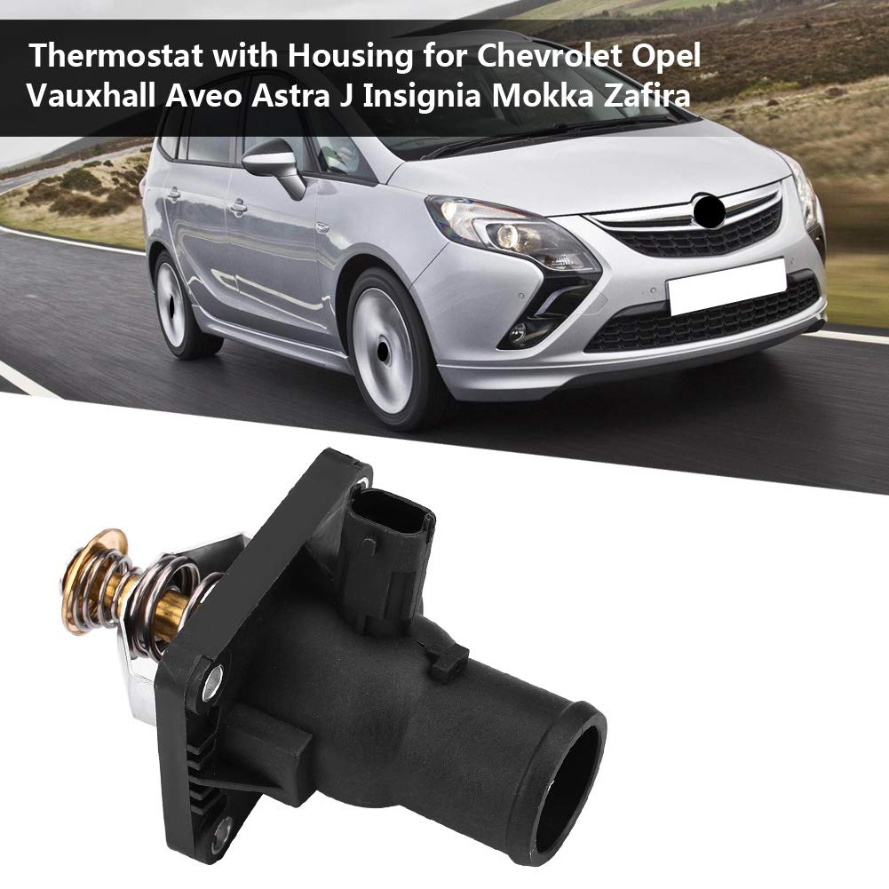 Plastic /& Metal Material 55564891 Thermostat with Housing KIMISS Engine Coolant Thermostat