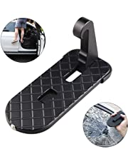 Anordsem (Upgraded 2.0) Car Doorstep Foot Pegs Doorstep Vehicle Hook U Shaped Slam Latch Doorstep Folding RV Step Ladder Pegs with Safety Hammer Easy Access for Car Rooftop Roof-Rack Truck, SUV, Jeep
