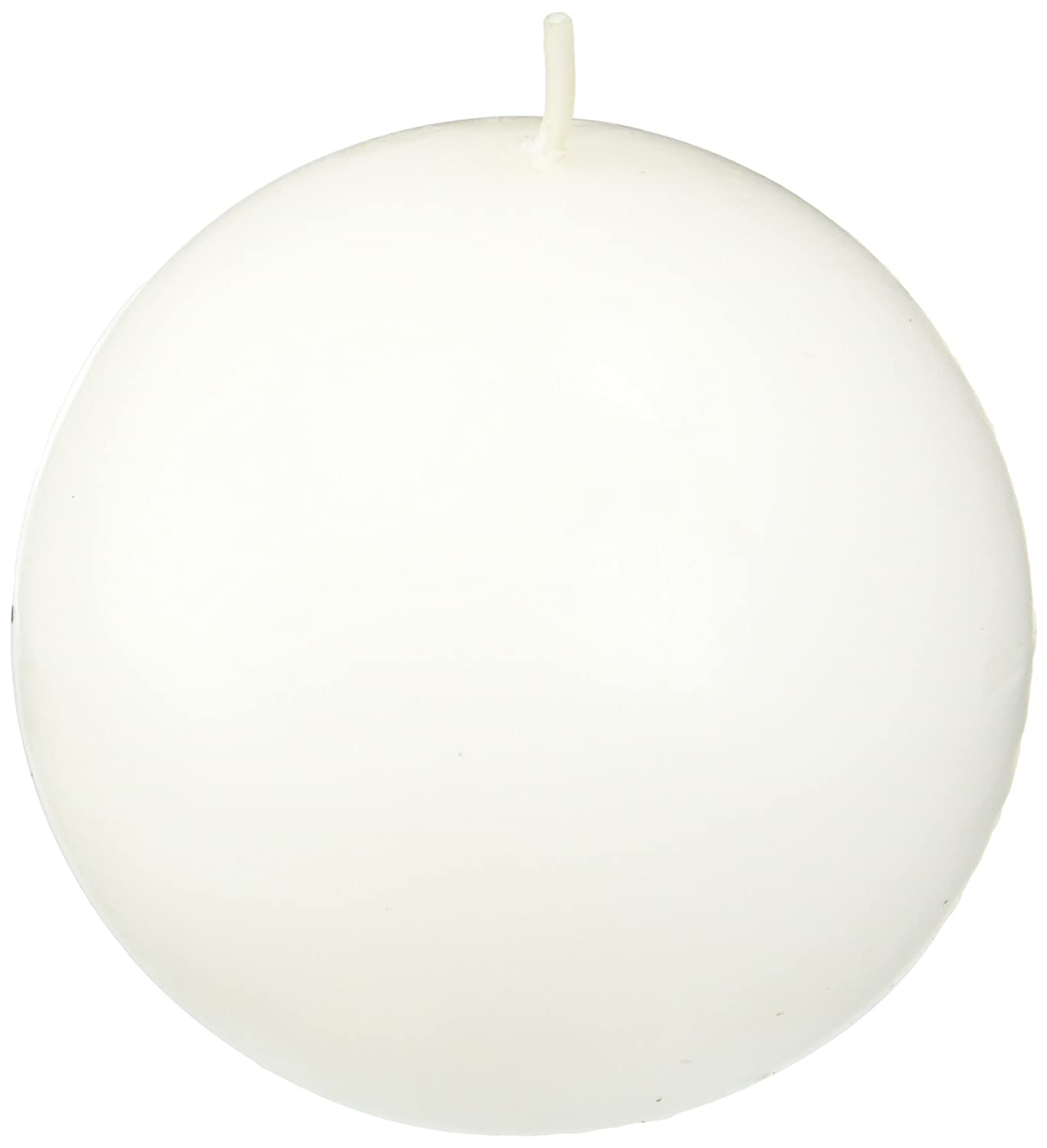 Zest Candle 6-Piece Ball Candles, 3-Inch, White Citronella CBZ-043