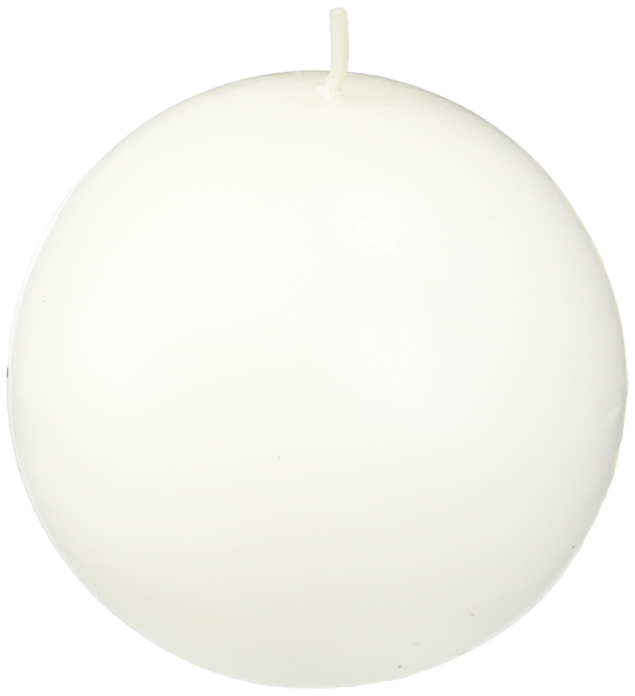 Zest Candle 6-Piece Ball Candles, 3-Inch, White Citronella