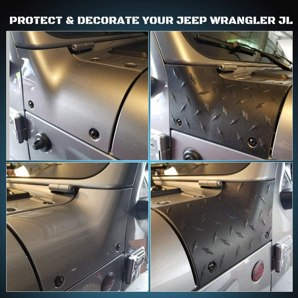 Cowl Body Armor Jeep JL A/&UTV PRO Star Outer Cowl Covers Guard Compatible with 2018-2020 Jeep Wrangler JL Gladiator JT Sahara Sport Rubicon