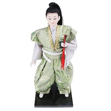 MagiDeal Muñecas Japonesas del Guerrero Japonés Ornamentos ...