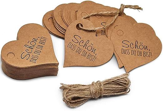 Papier Anhänger Etiketten Tags Label Schilder Hängedeko für 100stk