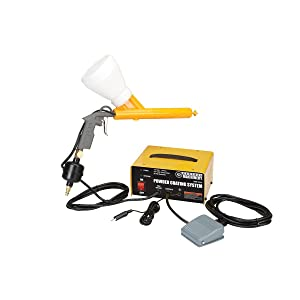 Chicago Electric Power Tools Portable Powder Coating System 10-30 PSI with Powder Coating Gun, Foot Switch, Power Source, Inline Filter and Two Powder Cups