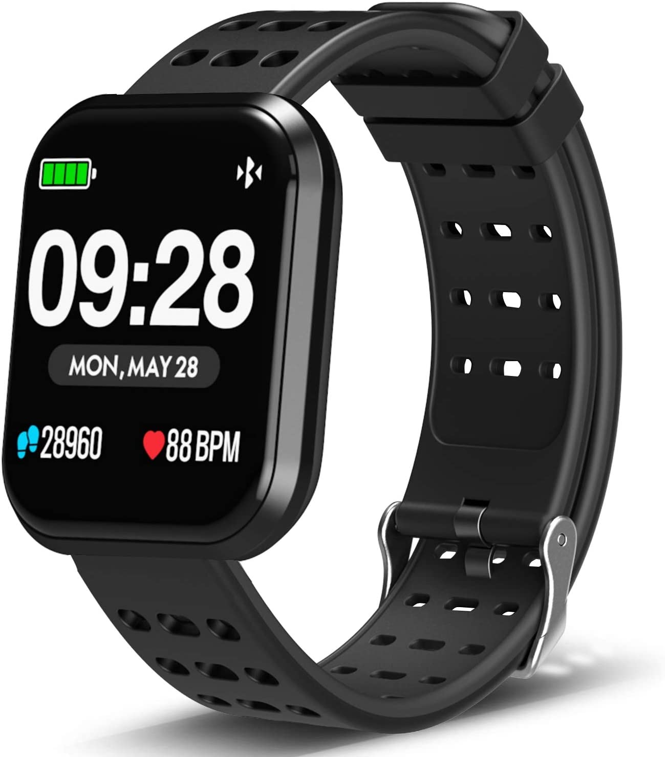 DoSmarter Surpro Fitness Watch, Wearable Activity Tracker Running Watch with Heart Rate Monitor, Waterproof Smart Wristband Pedometer Watch for Kids ...