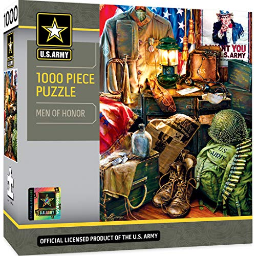 MasterPieces U.S. Army Men of Honor - Army Vintage Memorabilia 1000 Piece Jigsaw Puzzle by Dona Gelsinger