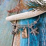 Beach Girl Bangle Bracelet, Engraved - Starfish, Shell, Cruise Jewelry, Honeymoon Jewelry
