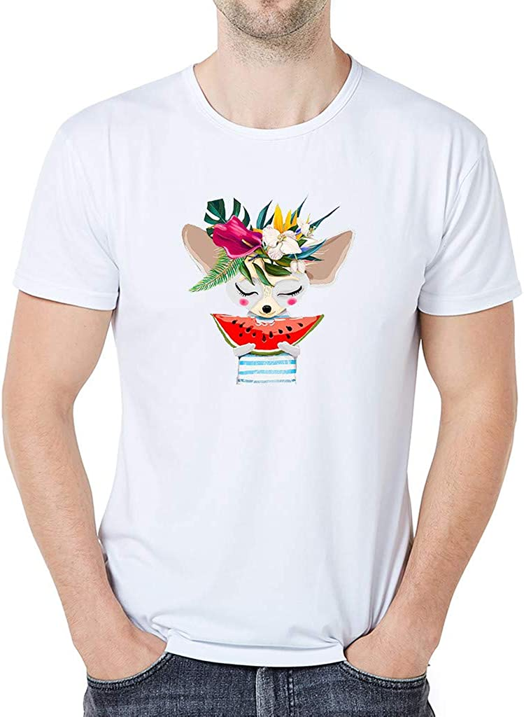 Benficial Summer Mens Casual Fashion Round Neck Short-Sleeved Modal Cotton T-Shirt Top 2019 Summer