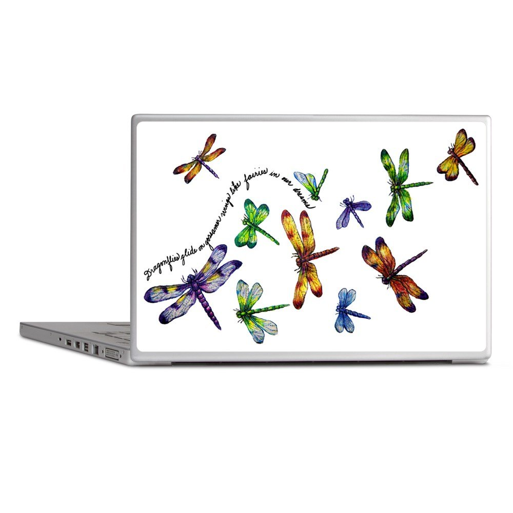 Laptop Notebook 14 Inch Skin Cover Dragonflies Glide on Gossamer Wings