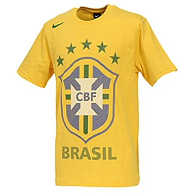 Nike Brazil Core Federation T-shirt at Amazon Men s Clothing store  f314ae590bf0b