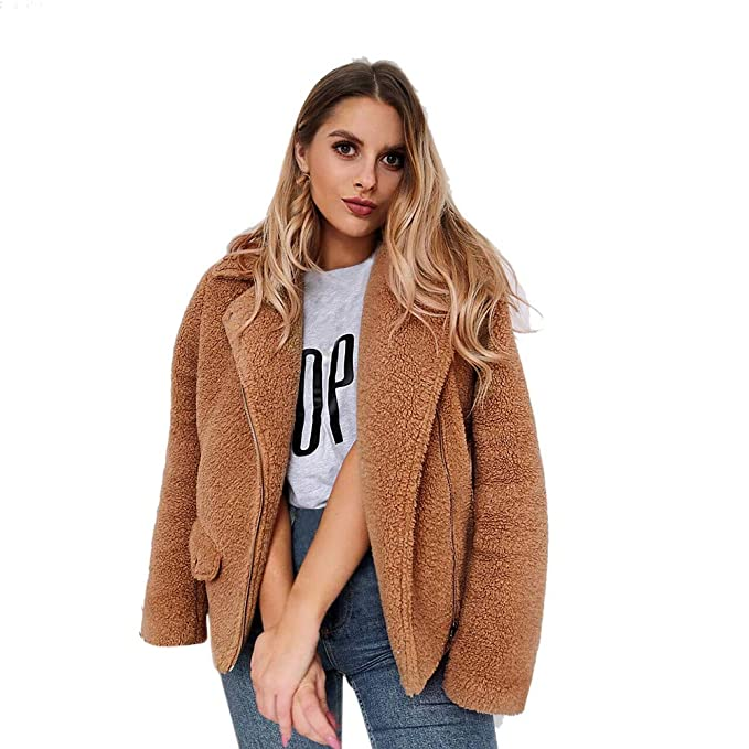 Todaies Women Winter Plus Size Coat Women Warm Open Front ...