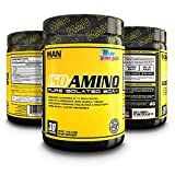 MAN Sports ISO-AMINO BCAA Amino Acid Powder, Blue Bomb-Sicle, 30 Servings, 210 Grams