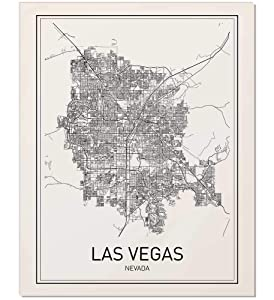Las Vegas Poster, Las Vegas Map, City Map Posters, Las Vegas Map Print, Nevada Map, Nevada Poster, Minimalist Poster, Scandinavian Poster, Modern Map Art, Map Wall Art, Map Art, Black and White, 8x10