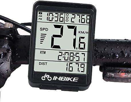 Wisdomx Ordenador de Bicicleta de 2,1in, Velocímetro de Bicicleta ...