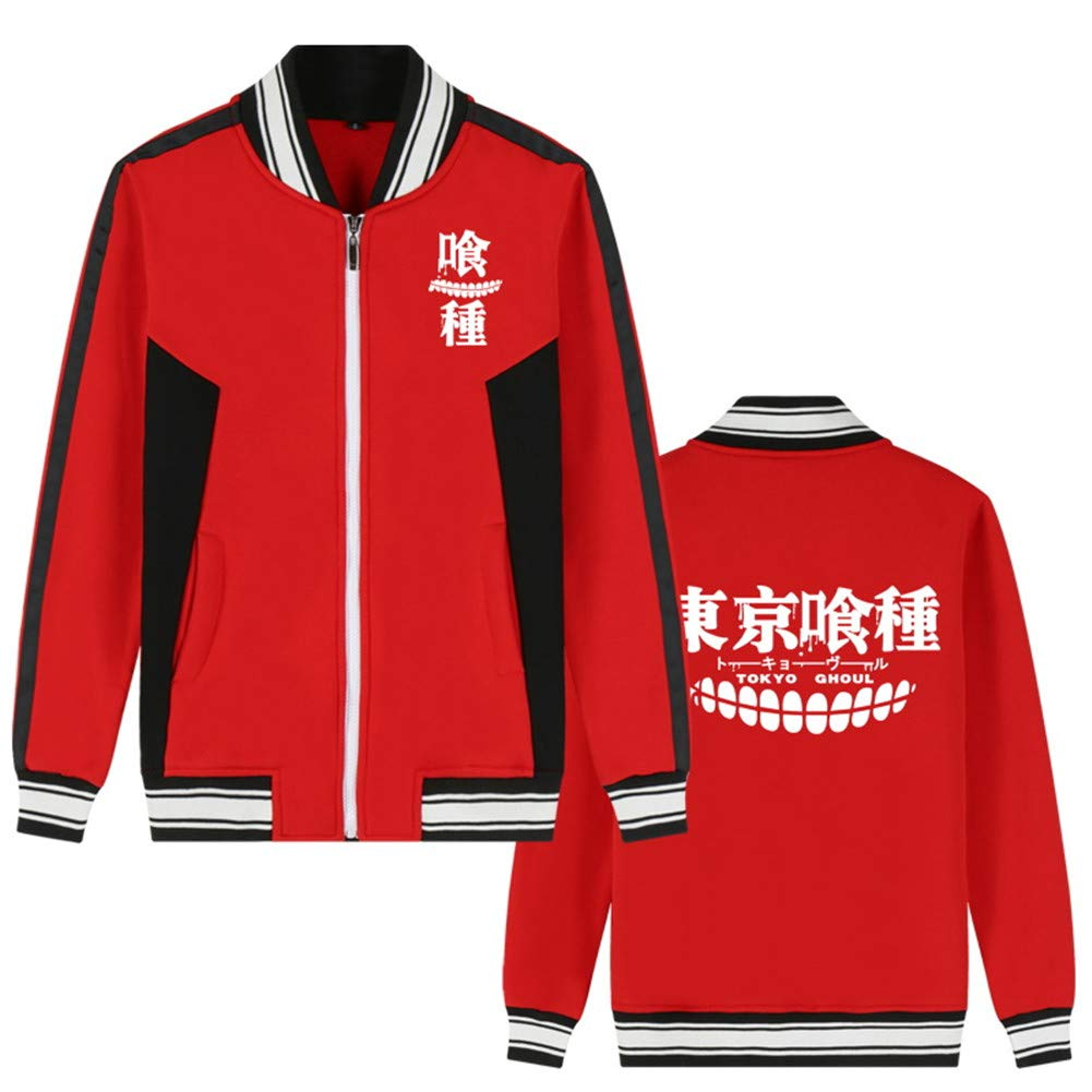 Gumstyle Anime Tokyo Ghoul Baseball Uniform Unisex Cosplay Zip Sweater Jacket Sport Coat