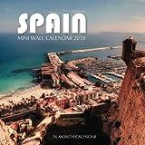 Spain Mini Wall Calendar 2018: 16 Month Calendar