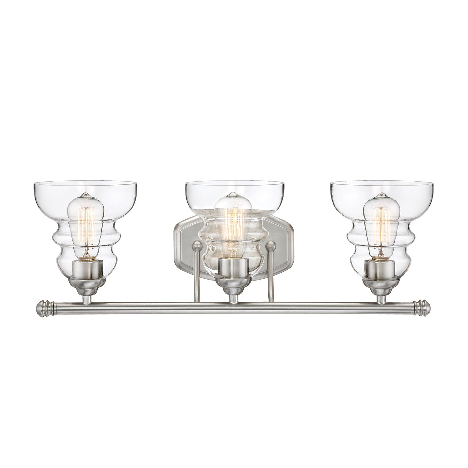 Millennium lighting 7333 sn millenniumthree light vanity 3 light millennium lighting 7333 sn millenniumthree light vanity 3 light bath vanity in satin nickel amazon aloadofball Gallery