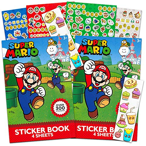 Nintendo Super Mario Stickers Party Favor Packs ~ Over 600 - Nintendo Sticker Sheet