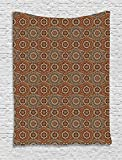 40 X 40 Ottoman Lunarable Ethnic Tapestry, Middle Eastern Arabian Style Ottoman Flower Scroll Turkish Old Fashioned Bohemian, Wall Hanging for Bedroom Living Room Dorm, 40 W X 60 L inches, Multicolor