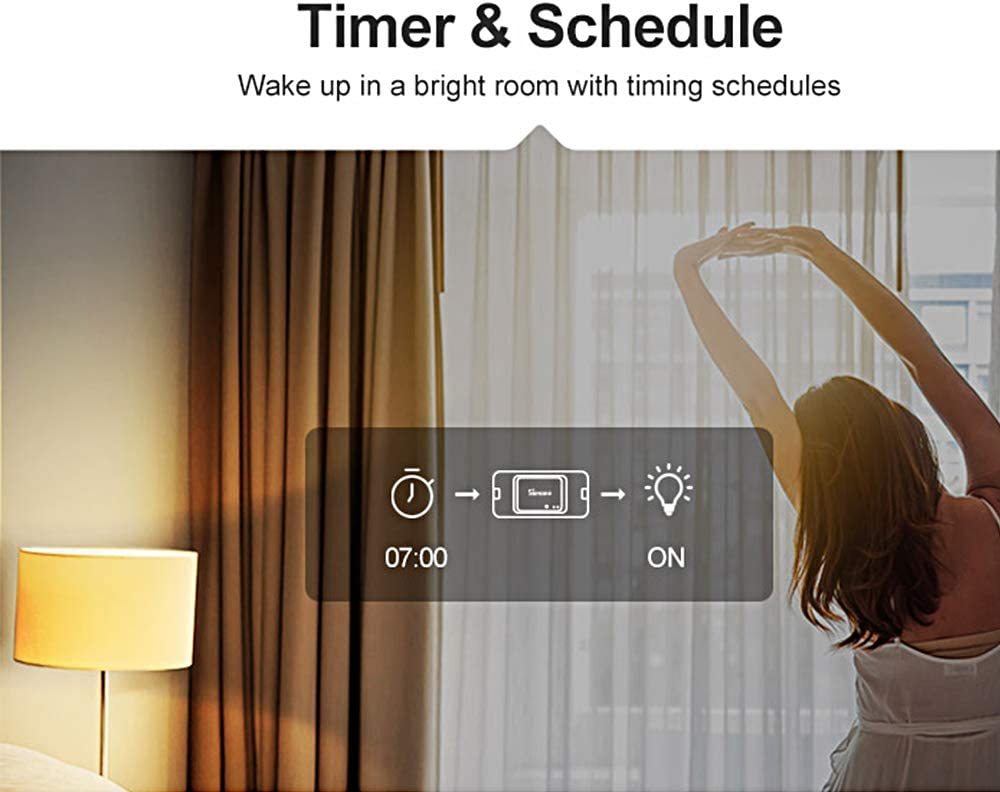 Docooler Sono-FF-Basic R3 Intelligent on//Off WiFi Interrupteur Minuteur Lumi/ère Support App//LAN//Contr/ôle Vocal Mode Fai-da-Te