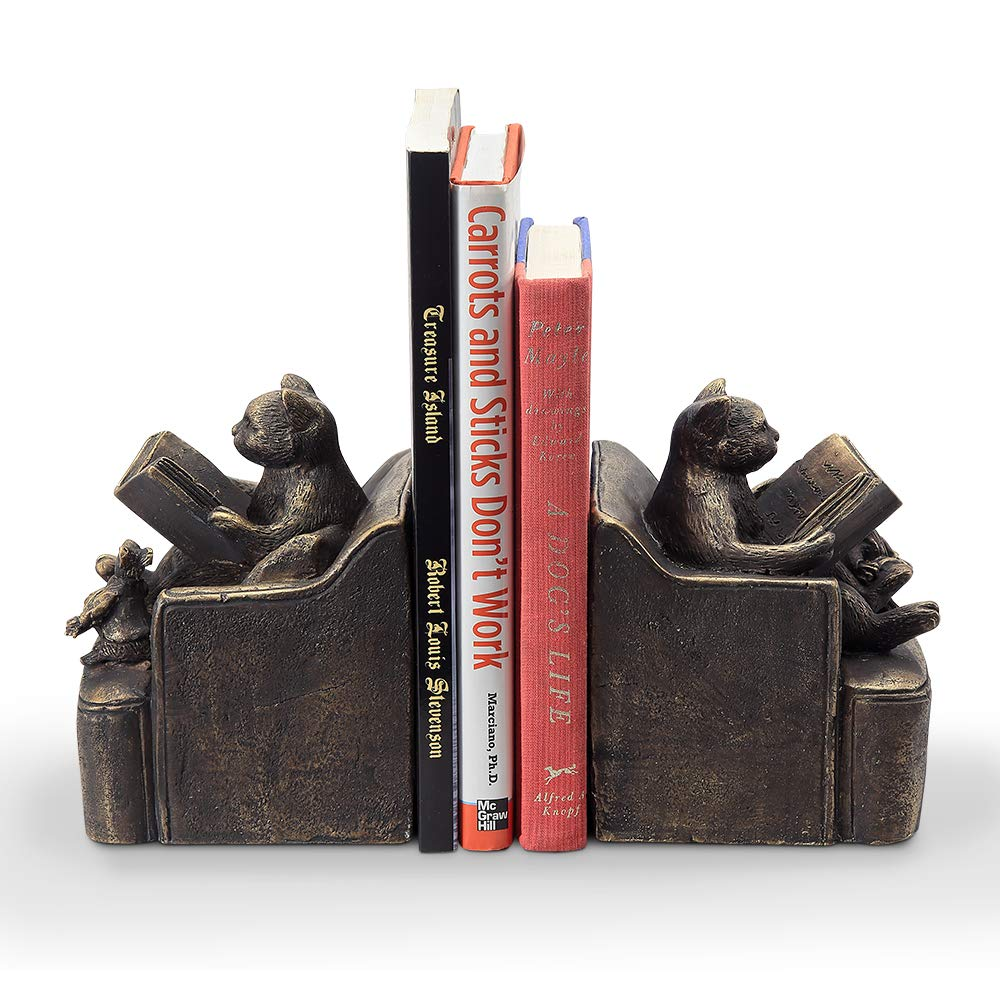 SPI Home Reading Friends Cat & Mouse Bookends Pair by SPI Home