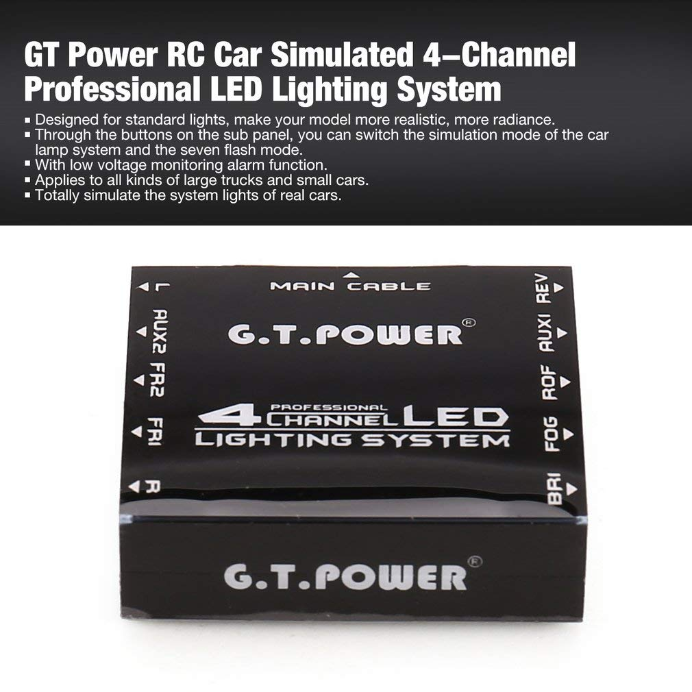 leoboone GT Coche RC de la energía 5.0V simulado Sistema de ...