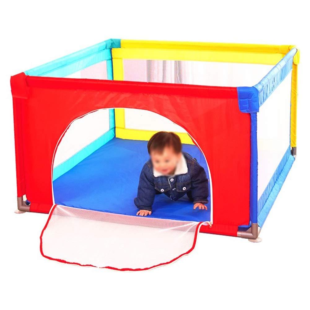 赤ちゃんゲームフェンス子供クロール幼児、安全プレイセンター庭ホーム屋内屋外ベビープレイペン (色 : With crawling mat)  With crawling mat B07H22NXTZ