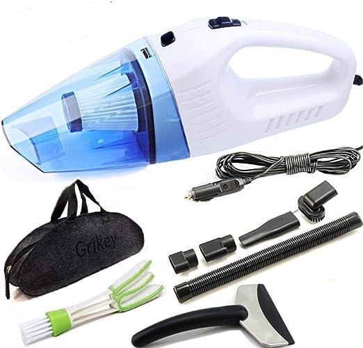 Asbjxny Aspiradora para Auto Multi Dry/Wet 120W Aspiradora de Coche Aspirador Filtro Intercambio de @Blanco: Amazon.es: Hogar