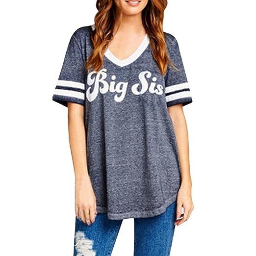 3d853ea11 Boomboom Women Summer Blouse, Teen Girls Sister Friend Clothes Casual  Letter Tees T-Shirt