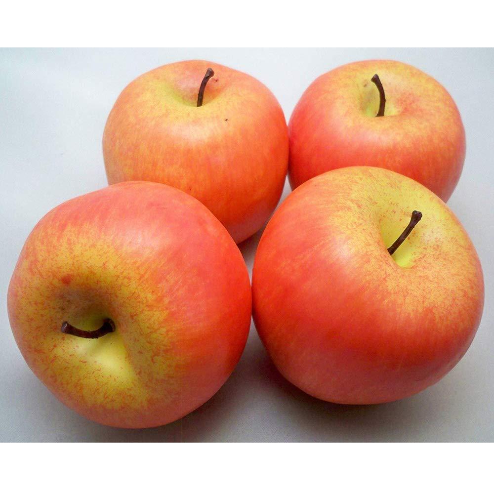 Aofocy 4 gro/ße k/ünstliche rote /Äpfel dekorativer Frucht