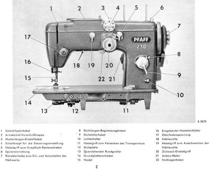 Yaya Pfaff Máquina de Coser 230 – 260 Download PDF de File ...