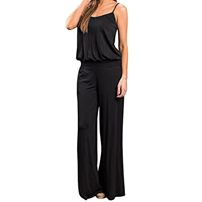 Alion Womens Plus Size Sleeveless Overall Strappy Jumpsuit Romper Bib
