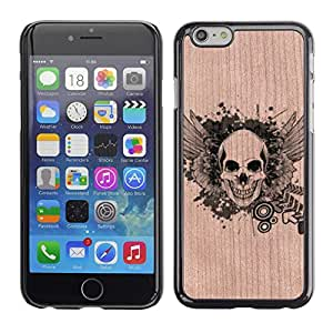 Funda Cubierta Madera de cereza Duro PC Teléfono Estuche / Hard Case for Apple Iphone 6 Plus 5.5 / Phone Case TECELL Store / Skull Metal Rock Heavy Music Death Skull Metal Rock Heavy Music Death