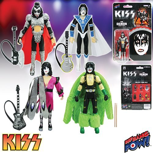 KISS Dynasty 3 3/4-Inch Action Figures Series 2 Set (Adult Kiss The Catman Costume)