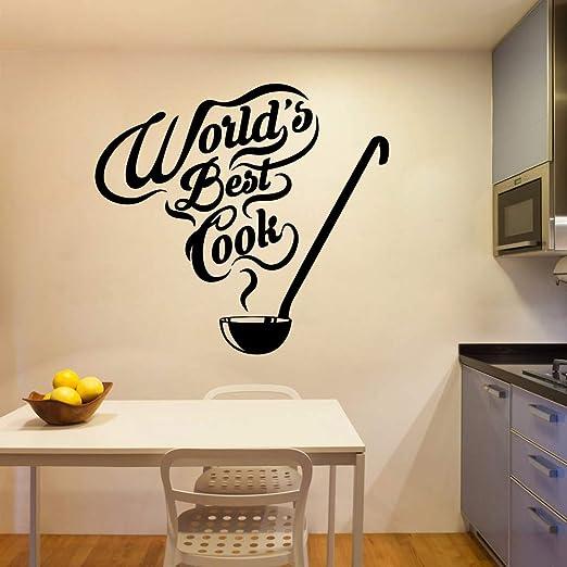 Creative World Best Cook Wall Sticker Pvc Extraíble Impermeable ...