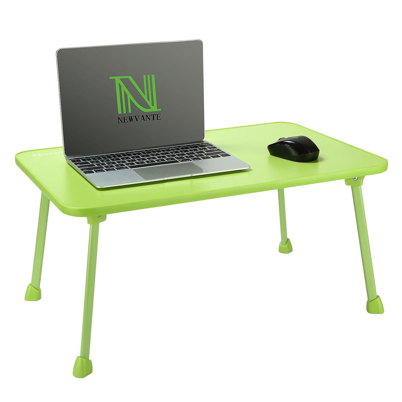 Mesa De Cama Portátil Nnewvante Adjustable Bandeja para Portátil Plegable Escritorio Escritura Comer en Cama apoyo de ordenador hasta 17